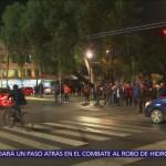 Bloquean Av. Eduardo Molina por desabasto de gasolina