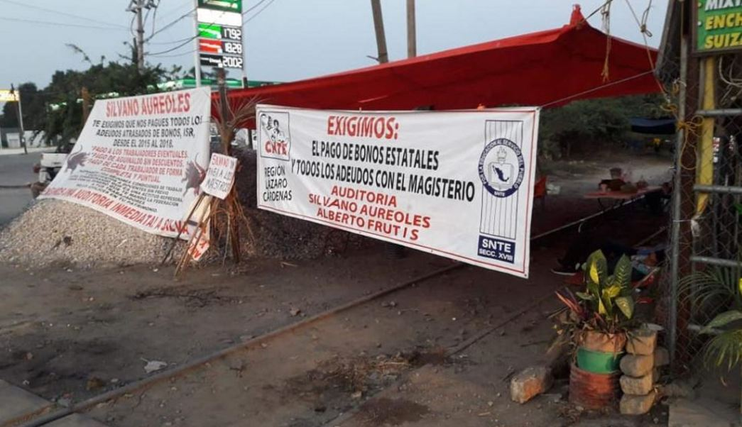 Foto: Los bloqueos de CNTE se encuentran en Lázaro Cárdenas, Maravatío, Pátzcuaro, Caltzontzin, Nueva Italia, Yurécuaro y La Piedad el 27 de enero de 2019
