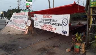 Foto: Bloqueos de la CNTE en Michoacán, 21 de enero 2019