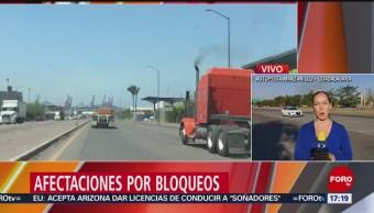 Bloqueos en Michoacán afectan puerto de Manzanillo