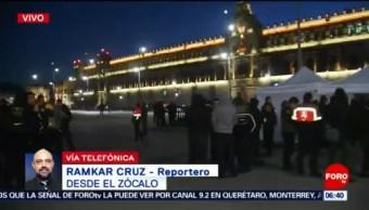 Bomberos realizan protesta en Palacio Nacional, CDMX