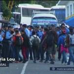 Caravana de honduras pasa a Guatemala de manera ordenada