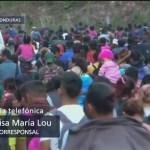 Caravana migrante avanza sin violencia por Honduras