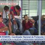Caravana migrante recibirá apoyo de autoridades mexicanas