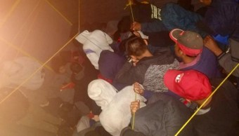 Foto: El grupo de inmigrantes fue trasladado a las instalaciones de la Fiscalía de Chiapas para brindarles atención el 27 de enero de 2019