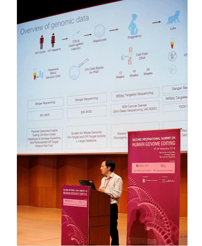 Científico chino He Jiankui anuncia modificación genética. (AP)