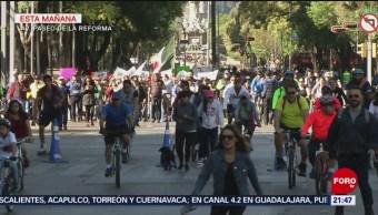 Foto: Cientos de personas marchan en CDMX en apoyo de AMLO, 27enero 2019