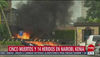 Cinco muertos y 14 heridos en Nairobi, Kenia