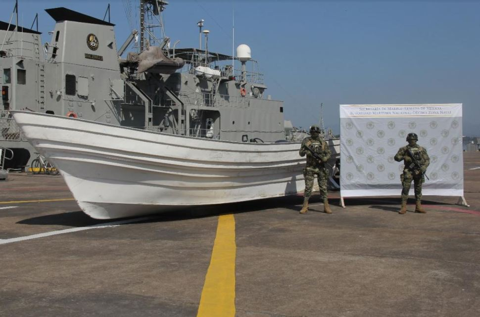 Foto: Marina decomisa embarcación de cocaína, el 28 de enero 2019