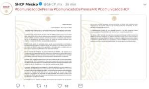 Foto: Hacienda tomará medidas para fortalecer finanzas de Pemex, México, 28 de enero de 2019 (Twitter: @SHCP_mx)