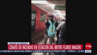 Connato de incendio en el Metro de la CDMX