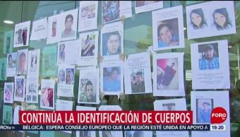 Foto: identificación de cuerpos de víctimas de Tlahuelilpan