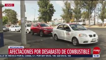 Continúan compras de pánico con bidones en Michoacán