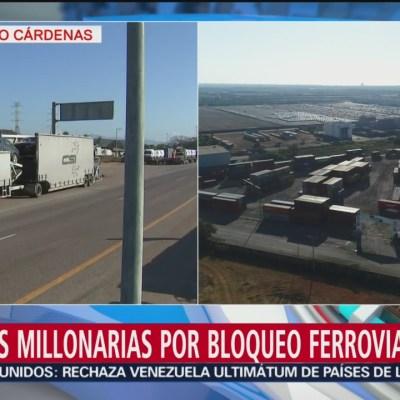 Continúan los bloqueos ferroviarios de la CNTE en Michoacán