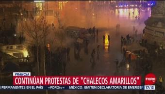 Foto, 26 enero 2019, Continúan manifestaciones de los 'chalecos amarillos' en Francia