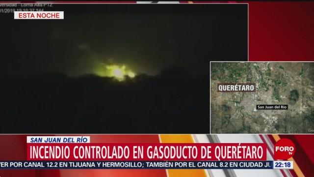 Controlado Incendio San Juan Del Río Querétaro