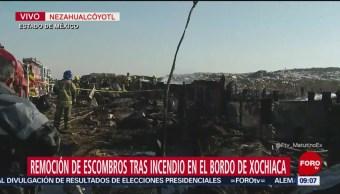 Controlan incendio en Bordo de Xochiaca, Edomex