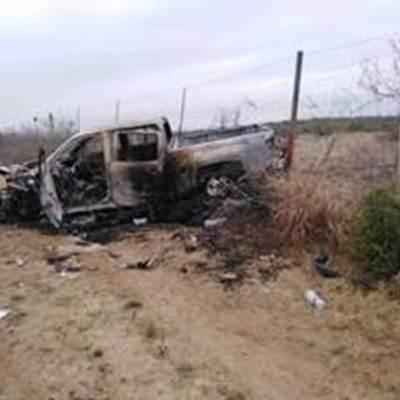 Localizan 21 cuerpos y vehículos calcinados en Miguel Alemán, Tamaulipas