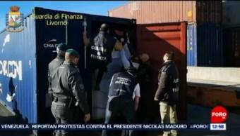 Decomisan 148 mdd de cocaína oculta en contenedor de café