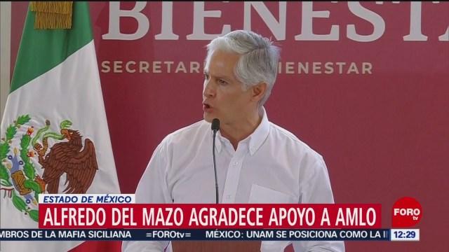 Del Mazo agradece a AMLO apoyo a pobladores de Acambay