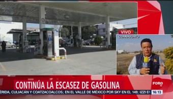 Demanda de combustible genera escasez en Guanajuato