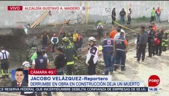 Derrumbe en construcción de departamentos deja un muerto en GAM