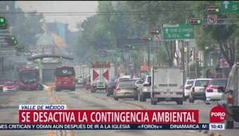 Desactivan contingencia atmosférica en noreste del Valle de México