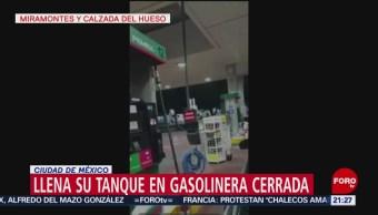 Despachador De Gasolinera Cerrada Llena De Combustible Su Auto, Video Que Circula En Redes, Miramontes Y Calzada Del Hueso