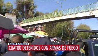 Foto: Detienen Personas Armas De Fuego Cuauhtémoc CDMX 30 de Enero 2019