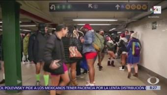Día sin pantalones en el metro de Nueva York