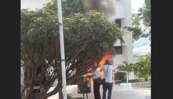 normalistas se enfrentan con granaderos en Tuxtla Gutiérrez