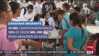 Dos nuevos grupos de migrantes llegan en caravanas a México