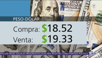 El dólar se vende en $19.33