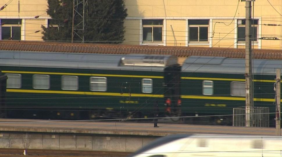 El tren que se cree transportaba al líder norcoreano