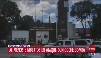 Elevan a ocho los muertos por presunto coche bomba en Bogotá