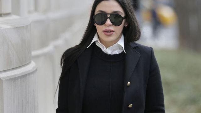 """Foto: Emma Coronel Aispuro, esposa de Joaquín """"El Chapo"""" Guzmán, corte federal Nueva York., 23 de enero 2019"""