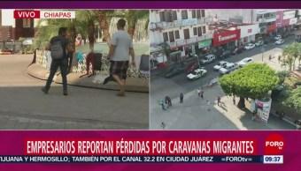 Foto, 26 enero 2019,Empresarios de Chiapas reportan perdidas millonarias por caravanas de migrantes
