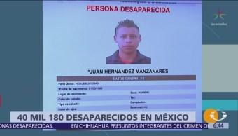 En México hay más de 40 mil personas desaparecidas