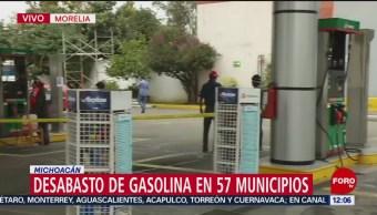En Michoacán, 57 municipios no tienen gasolina