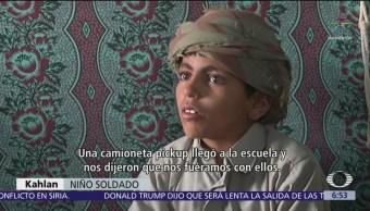 En Yemen, rebeldes reclutan a niños como soldados