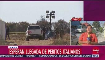 Esperan llegada de peritos italianos para accidente de helicóptero en Puebla