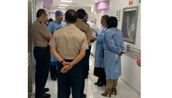 Gutiérrez Müller visita a heridos de explosión en Hidalgo