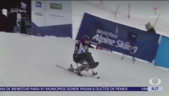 Esquiador Arly Velásquez compite en Eslovenia