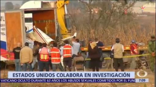 Estados Unidos apoyará investigación de accidente de Martha Erika Alonso