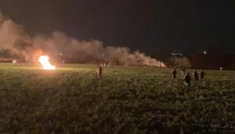 Controlan incendio tras explosión en Tlahuelilpan, Hidalgo