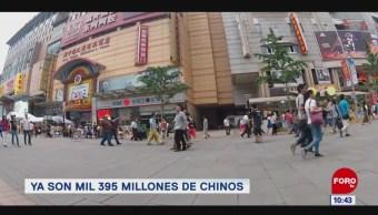 Extra, Extra: Población de China alcanza mil 395 millones
