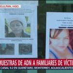 Familiares de víctimas sin identificar y desaparecidos entregan muestras de ADN