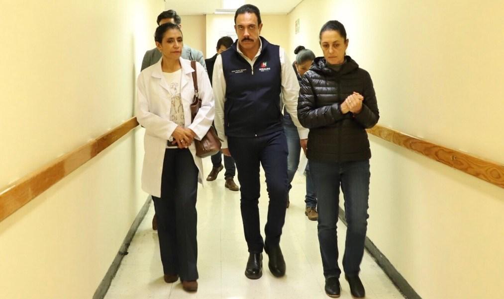 Fayad y Sheinbaum visitan a heridos por explosión en Hidalgo