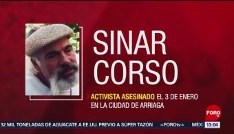 Fiscalía de Chiapas identifican a 4 involucrados en asesinato de Sínar Corzo