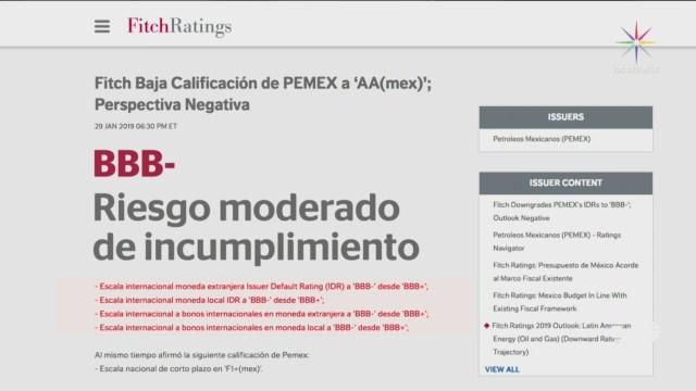Foto: Fitch Ratings Baja Calificación Pemex 29 de Enero 209